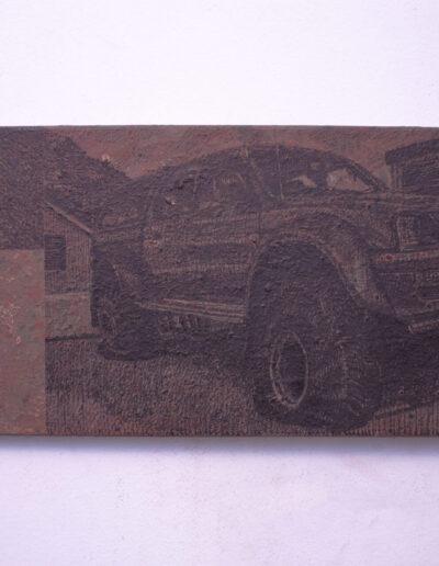 Quadro raffigurante un'automobile