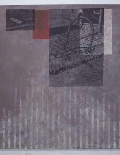 Opera d'arte di Norberto Spina ritraente milano