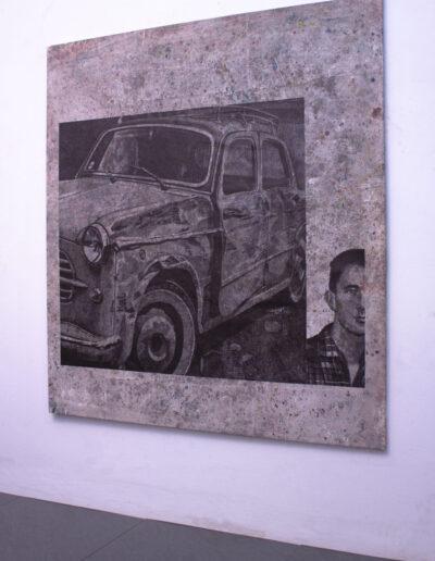 Opera d'arte esposta in galleria a milano