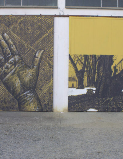 Norberto Spina murales piacenza