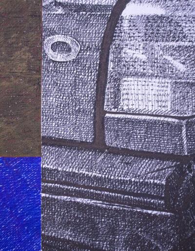 Dettaglio quadro realizzato con pennarelli marker