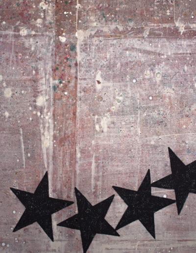Dettaglio di un quadro da una mostra a milano